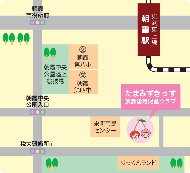 たまみずきっず栄町の地図